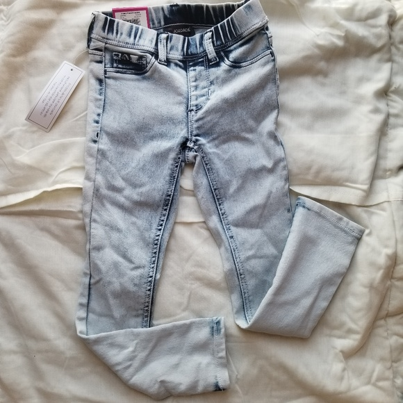 df8d7283a1177 Girls Acid Washed Jeggings Xs 45